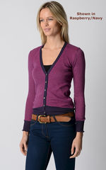 Our Stylish Navy Microstripe Cardigan - product images  of