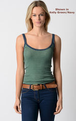 Wow 55% Off! Our Navy Microstripe & Lace Camisole - product images 5 of 8