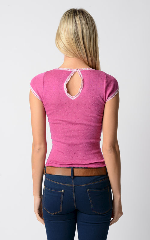 FLASH SALE 60% OFF! Our Narrow Lace Keyhole Back Top - product image