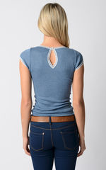 FLASH SALE 60% OFF! Our Narrow Lace Keyhole Back Top - product images 3 of 9
