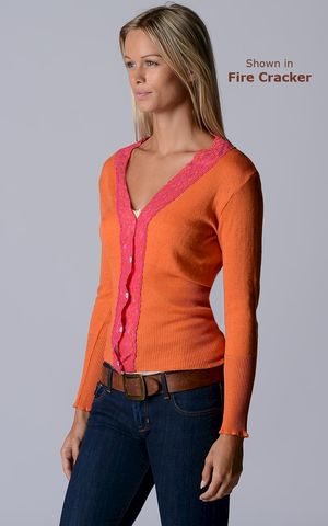 FLASH,SALE,50%,Off!,Our,Fuchsia,Lace,High,Rib,Cardigan,Wide Lace Trim, V Cardigan, Lace Cardigan, Lace Trim Cardigan, Palace London, Ladies Knitwear, Pointelle Knitwear