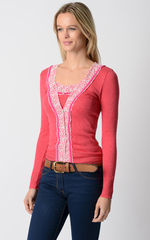 Even More Colours In Our Fuchsia Velvet and Lace Twinset - product images 4 of 8