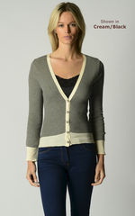 Now 70% Off! Our Cotton Microstripe V Cardigan - product images 4 of 7