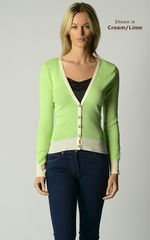 Flash Sale Over 80% Off! Our Cotton Microstripe V Cardigan - product images 6 of 7