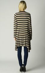 Wow 60% Off! Our Black Wide Stripe Waterfall Cardigan - product images 4 of 4