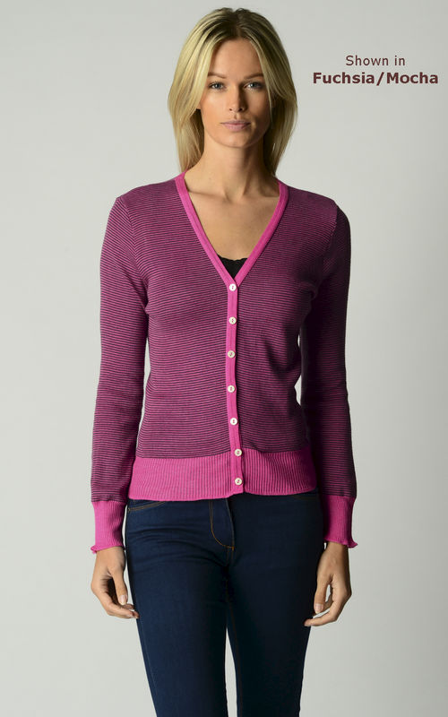 Our Gorgeous Mocha Microstripe Cardigan - product image