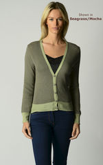 Our Gorgeous Mocha Microstripe Cardigan - product images  of