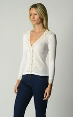 NOW 30% OFF! Our Lace Cuff Cardigan in 3 MORE COLOURS - product images 4 of 6
