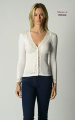 NOW 30% OFF! Our Lace Cuff Cardigan in 3 MORE COLOURS - product images 3 of 6