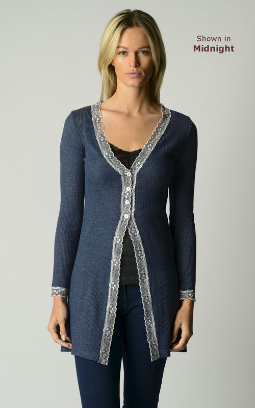 Now 60% Off!! Gypsy Lace Long Line Cardigan - product image