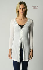 Now 60% Off!! Gypsy Lace Long Line Cardigan - product images 3 of 4