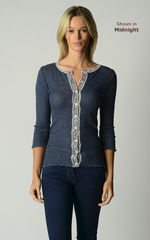 A Fabulous 50% Off!! Our Gypsy Lace Trim 3/4 Sleeve Cardigan - product images 1 of 3