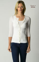 A Fabulous 50% Off!! Our Gypsy Lace Trim 3/4 Sleeve Cardigan - product images 3 of 3