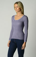 Now 60% Off!! Our Brushed Thermal Scallop Lace Top - product images 2 of 8