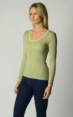 Now 60% Off!! Our Brushed Thermal Scallop Lace Top - product images 4 of 8