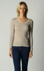 Now 60% Off!! Our Brushed Thermal Scallop Lace Top - product images 5 of 8