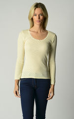 Now 60% Off!! Our Brushed Thermal Scallop Lace Top - product images  of