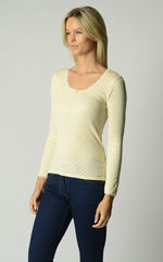 Now 60% Off!! Our Brushed Thermal Scallop Lace Top - product images 8 of 8