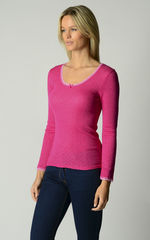 Now 60% Off!! Vibrant Colours In Our Scallop Lace Top - product images 2 of 4