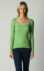Now 60% Off!! Vibrant Colours In Our Scallop Lace Top - product images 3 of 4