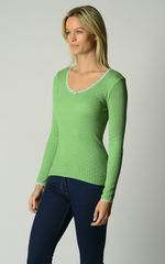 Now 60% Off!! Vibrant Colours In Our Scallop Lace Top - product images 4 of 4