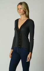 Now 20% Off!! Our Black Wide Lace Cardigan - product images 2 of 4