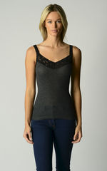 Now 30% Off!! Black Wide Lace Cardigan and Camisole Set - product images 2 of 2