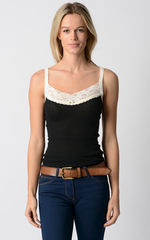 Now 75% Off!! Our Cream Velvet & Lace Camisole - product images 1 of 4