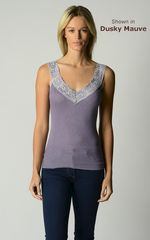 WOW 60% Off !! Our Classic Wide Lace Wide Strap Camisole - product images 3 of 10