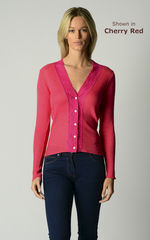 Our Fuchsia Wide Lace Cardigan - product images 6 of 10