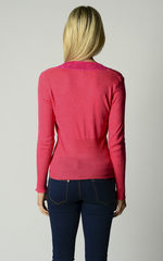Our Fuchsia Wide Lace Cardigan - product images 7 of 10