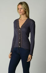 Now 50% OFF!!! Our Mocha Wide Lace High Rib Cardigan - product images 2 of 6