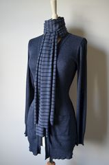 Our Narrow Stripe Knit Super Soft Scarf - product images 3 of 5