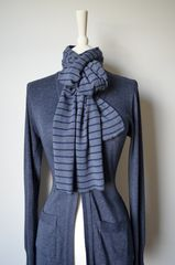 Our Narrow Stripe Knit Super Soft Scarf - product images 1 of 5