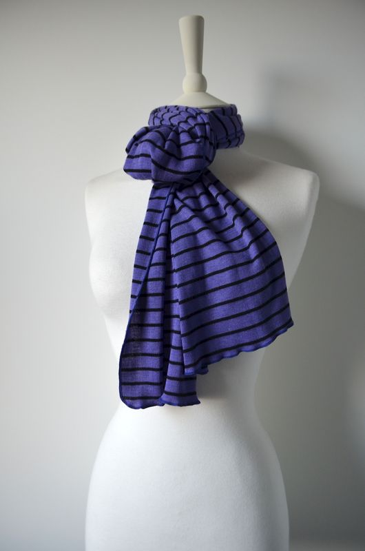 Wow Over 60% Off! Our Narrow Stripe Knit Super Soft Scarf - product image