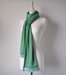 NOW 60% OFF!! -Our Exclusive Wide Lace & Ribbon Trim Scarf - product images 1 of 3