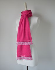 NOW 40% Off !! Our Exclusive Wide Lace & Ribbon Trim Scarf - product images 1 of 5