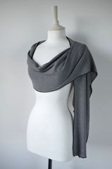 Wow Over 60% Off! Our Black Micro Stripe Knit Super Soft Scarf in White - product images 3 of 5