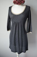 Wow 65% Off !! Our Trumpet Sleeve Pointelle & Lace Tunic - product images 1 of 2