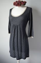 Wow 65% Off !! Our Trumpet Sleeve Pointelle & Lace Tunic - product images 2 of 2