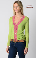 Our Fuchsia Wide Lace Cardigan - product images 10 of 10