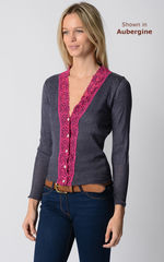 Our Fuchsia Wide Lace Cardigan - product images 8 of 10
