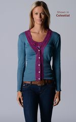 Our Fuchsia Wide Lace Cardigan - product images 4 of 10