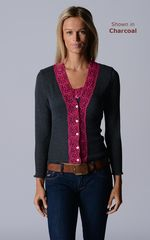 Our Fuchsia Wide Lace Cardigan - product images 3 of 10