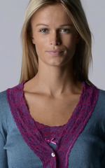 Our Fuchsia Wide Lace Cardigan - product images 5 of 10