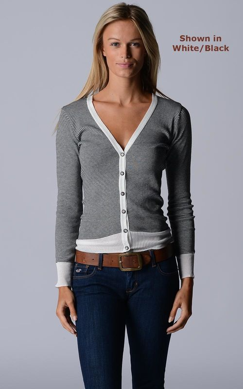 Our Black Microstripe Cardigan - product image