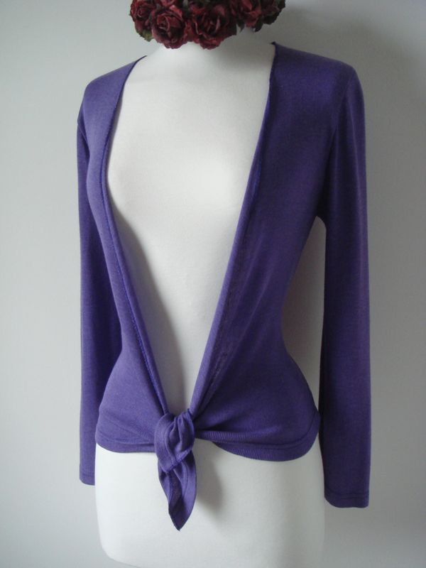 Now 30% Off! Our Plain Knit Tie Cardigan - product image