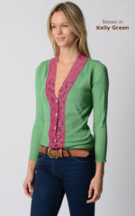Our Fuchsia Wide Lace Cardigan - product images 9 of 10