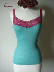 NOW 40% OFF NEW COLOURS!! In Our Fuchsia Wide Lace Camisole - product images 4 of 6