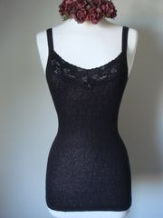 Now 30% Off!! Our Black Wide Lace Cardigan & Camisole Set - product images 2 of 3
